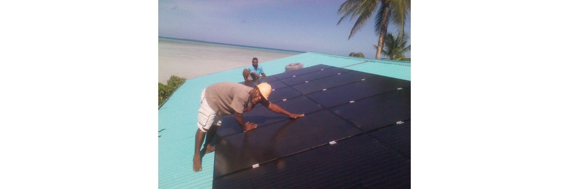 Abemama Fish Center - Solar Mounting